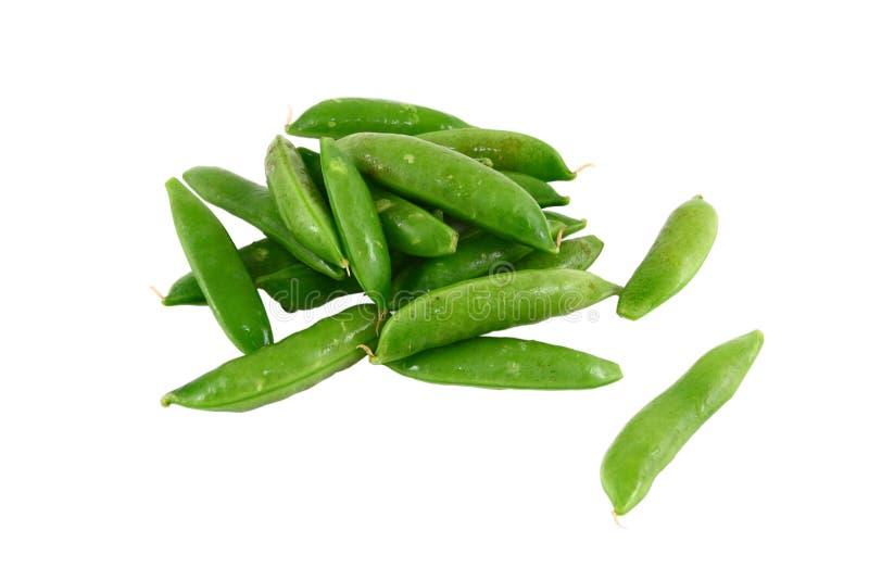 Une pile des becs d'ancre instantanés verts de sucre d'isolement sur le blanc photos libres de droits