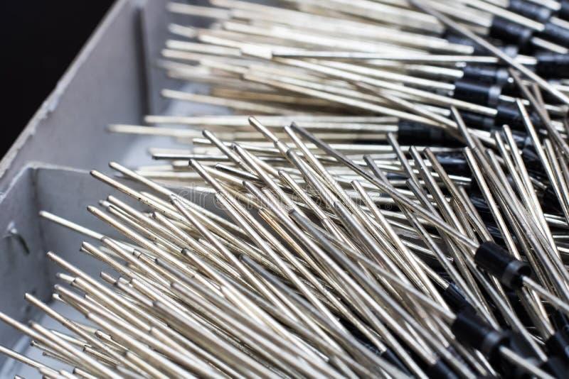Une pile des diodes étroitement, du fond ou de la texture images stock