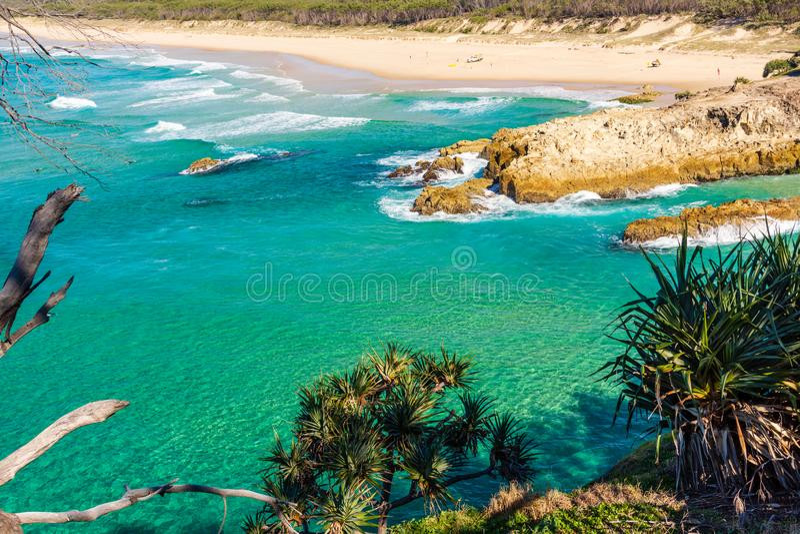 Une plage australienne sur Sunny Day photographie stock