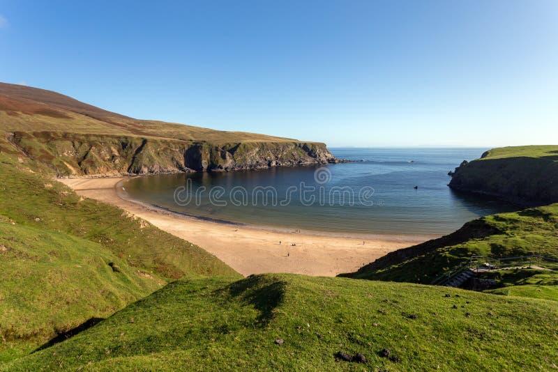 Une plage paradisiaque en Irlande du Nord photographie stock libre de droits