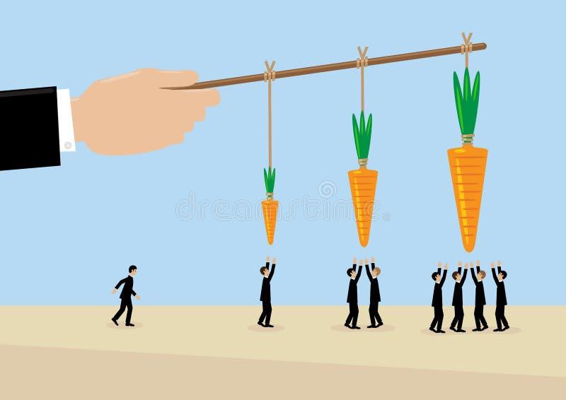 Une plus grande carotte illustration libre de droits