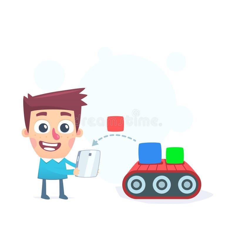 Une plus grande disponibilité des applications mobiles illustration de vecteur