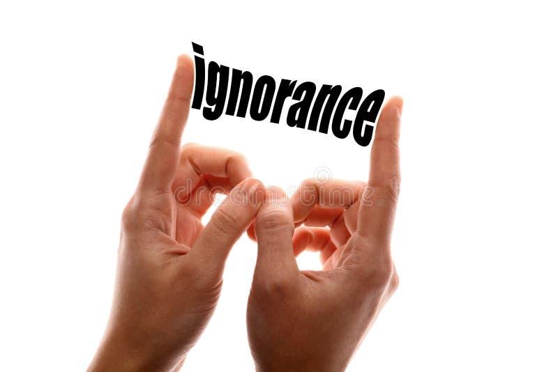 Une plus petite ignorance image stock