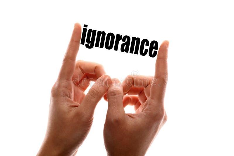 Une plus petite ignorance photo libre de droits