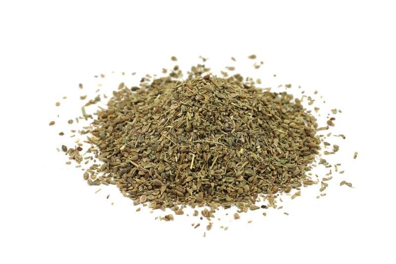 Une poignée de graines sèches d'anis images libres de droits