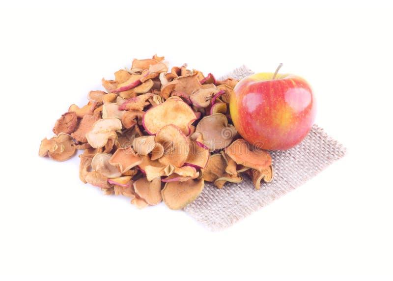 Une poignée de pommes sèches photographie stock