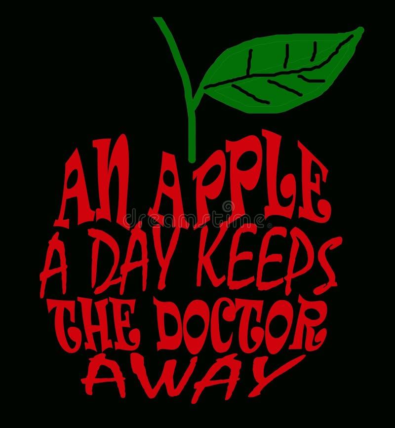 Une pomme par jour illustration libre de droits