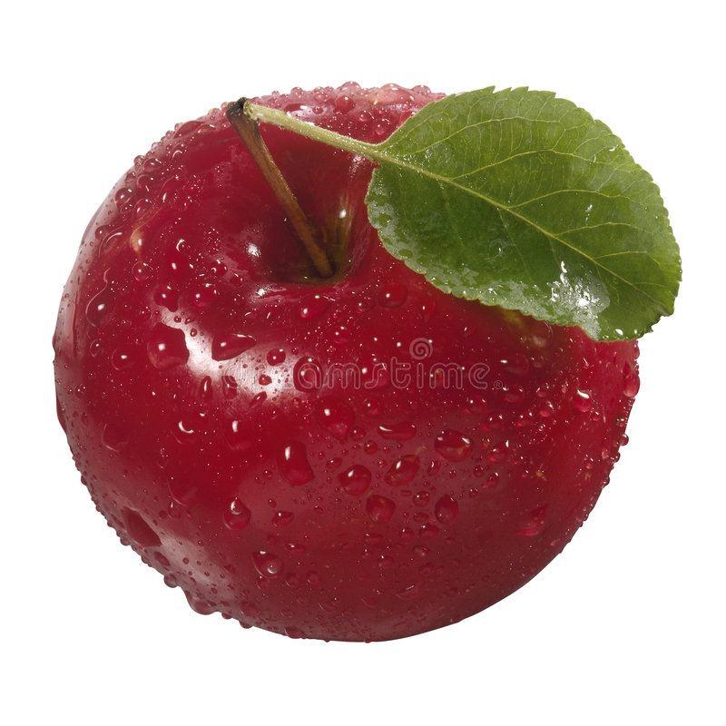 Une pomme rouge image stock