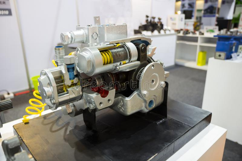 une pompe à piston pour l'équipement résistant photo stock