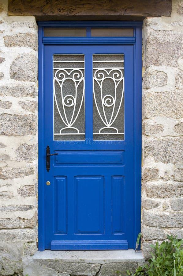 Porte bleue photo libre de droits
