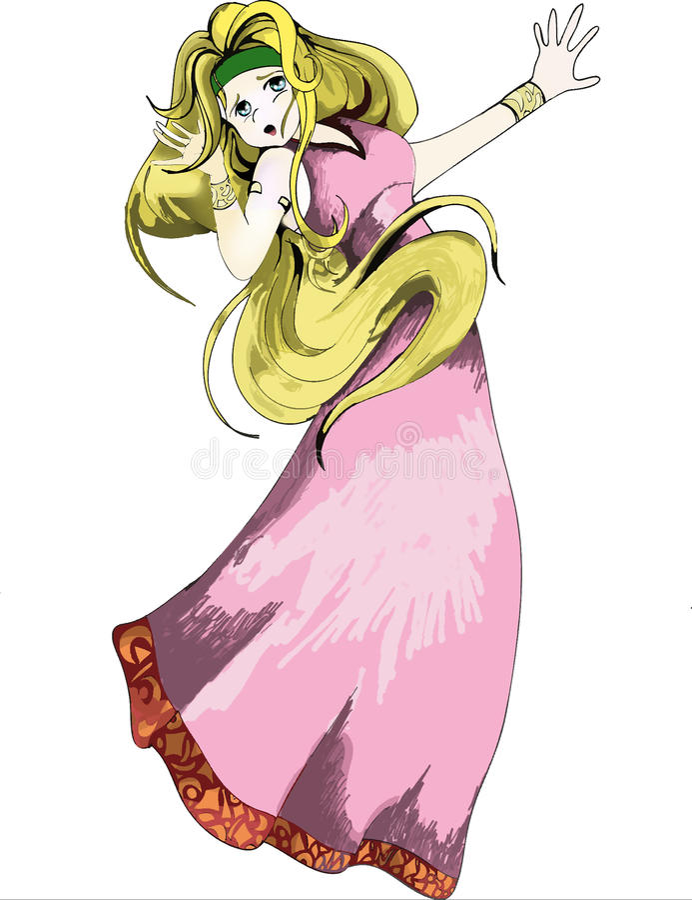 Une princesse grecque Anime Manga Style illustration stock