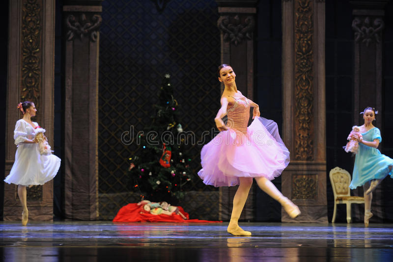 Une princesse heureuse Clara-The Ballet Nutcracker image libre de droits