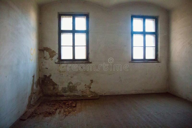 Une prison communiste commémorant les atrocités et les pratiques communistes de la torture et imposant la confession image stock