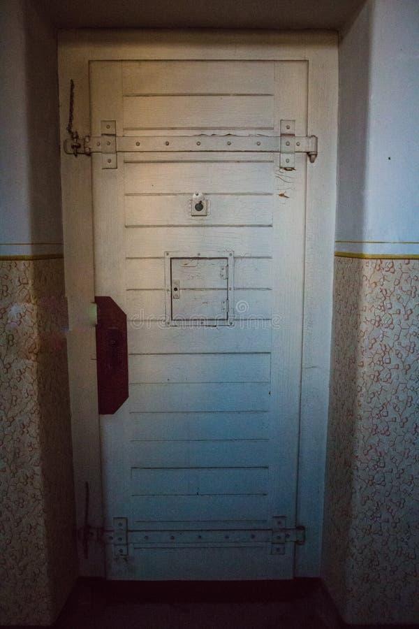 Une prison communiste commémorant les atrocités et les pratiques communistes de la torture et imposant la confession photographie stock libre de droits