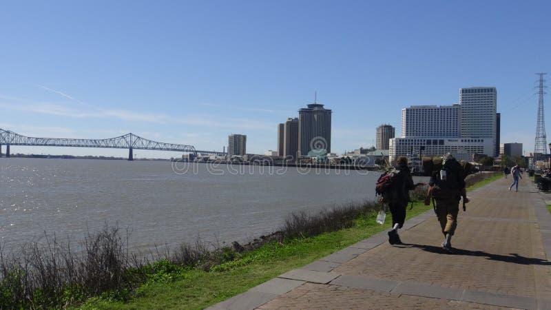 Une promenade de rivière photographie stock