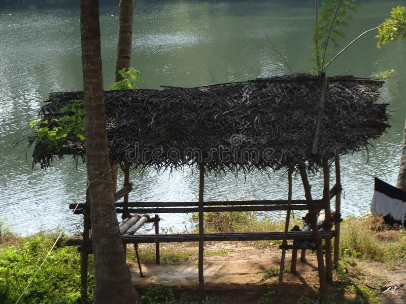 Une rivière de palourde images stock