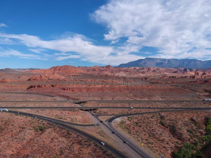 Une route ? St George chez l'Utah photographie stock libre de droits