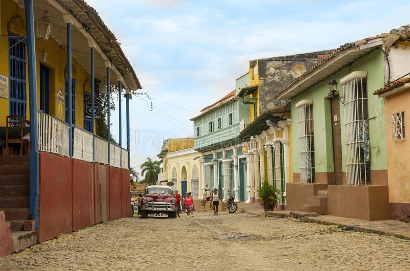 Une rue au Trinidad, Cuba photo stock