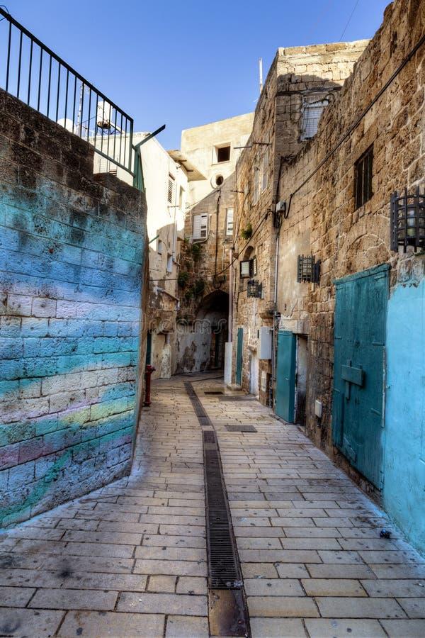 Une rue dans Akko photo libre de droits
