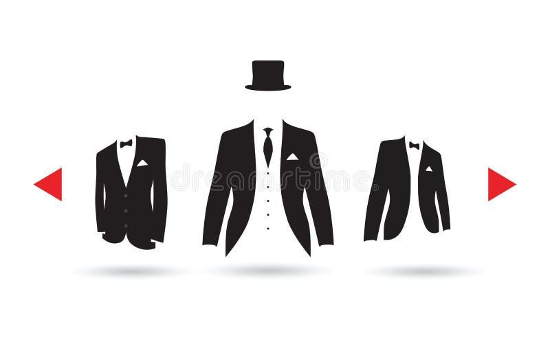 Une sélection de costume illustration libre de droits
