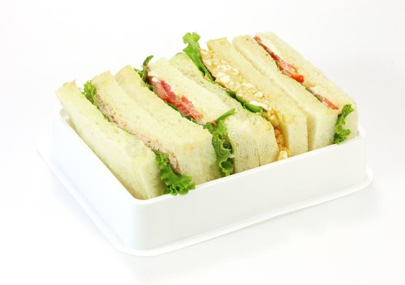 Une sélection des sandwichs avec de divers remplissages image stock