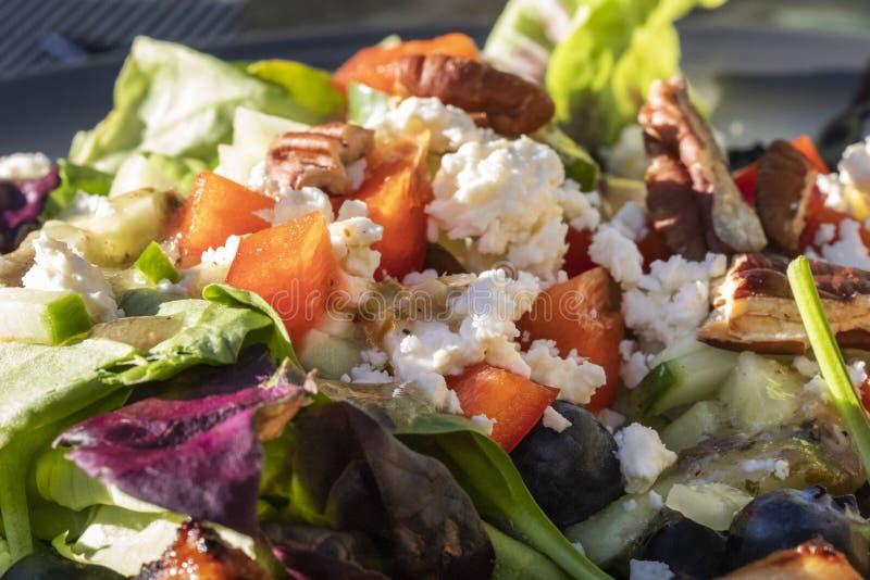 Une salade de regard savoureuse et saine avec des fruits et légumes se ferment  images stock