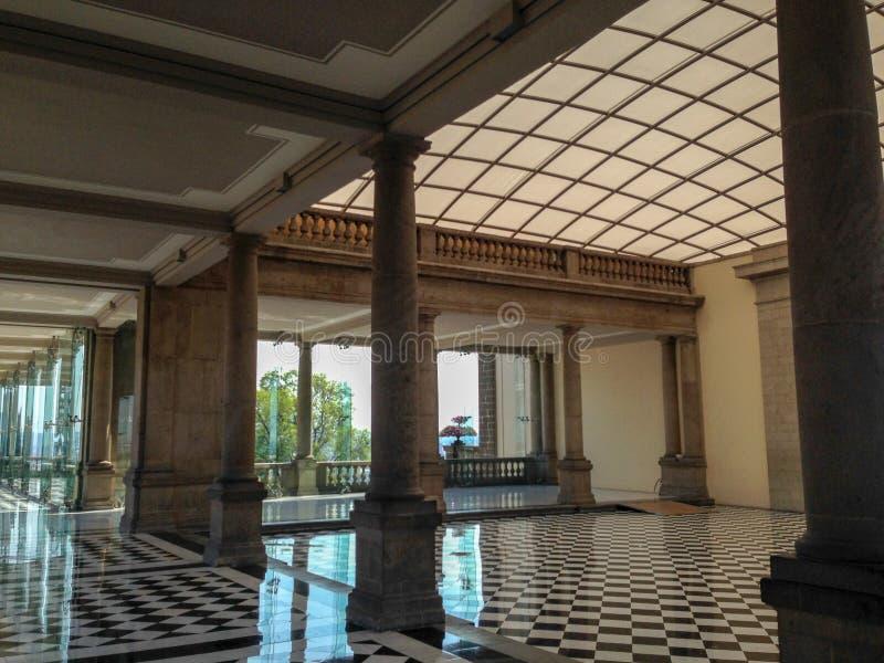 Une salle au château de Chapltepec photo libre de droits