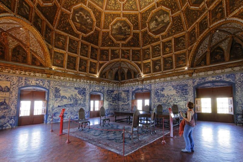 Une salle dans le palais de Sintra images libres de droits