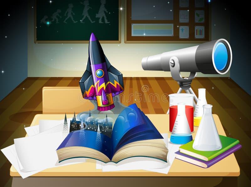 Une salle de laboratoire de science illustration libre de droits