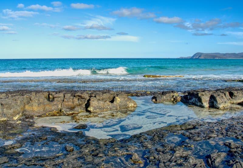 Une scène côtière dans l'Australie de la Tasmanie photographie stock