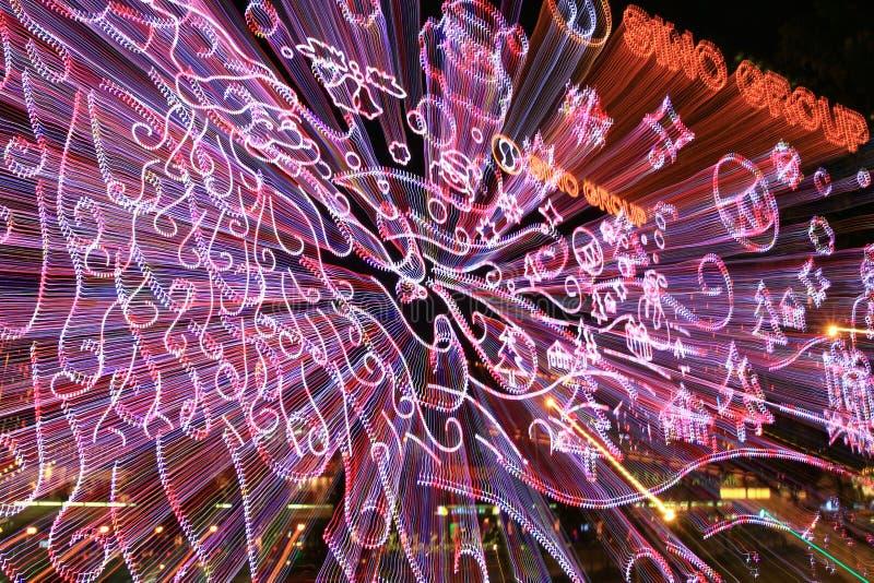 une scène de nuit de Hong Kong au HK image stock