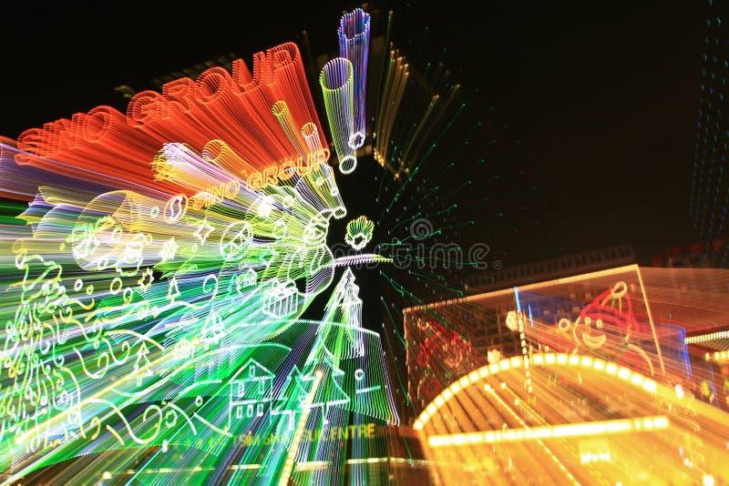une scène de nuit de Hong Kong au HK photos libres de droits