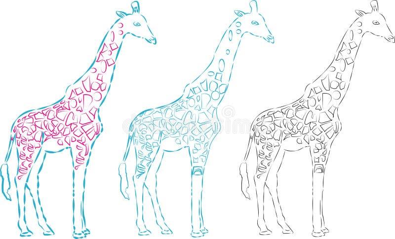 Une silhouette de girafe de vecteur, illustration animale abstraite Peut être employé pour le fond, carte, matériaux d'impression image libre de droits