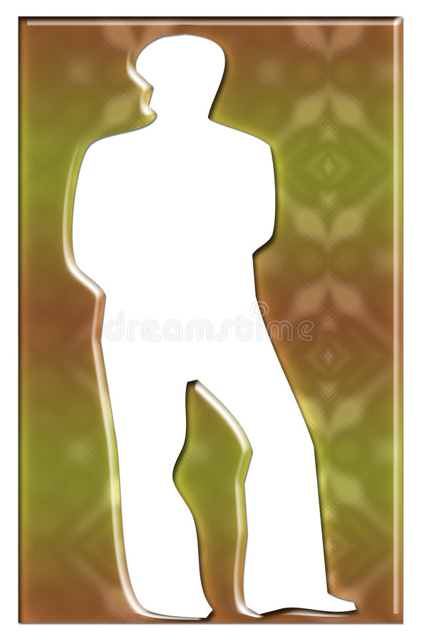 Une silhouette unisexe illustration stock