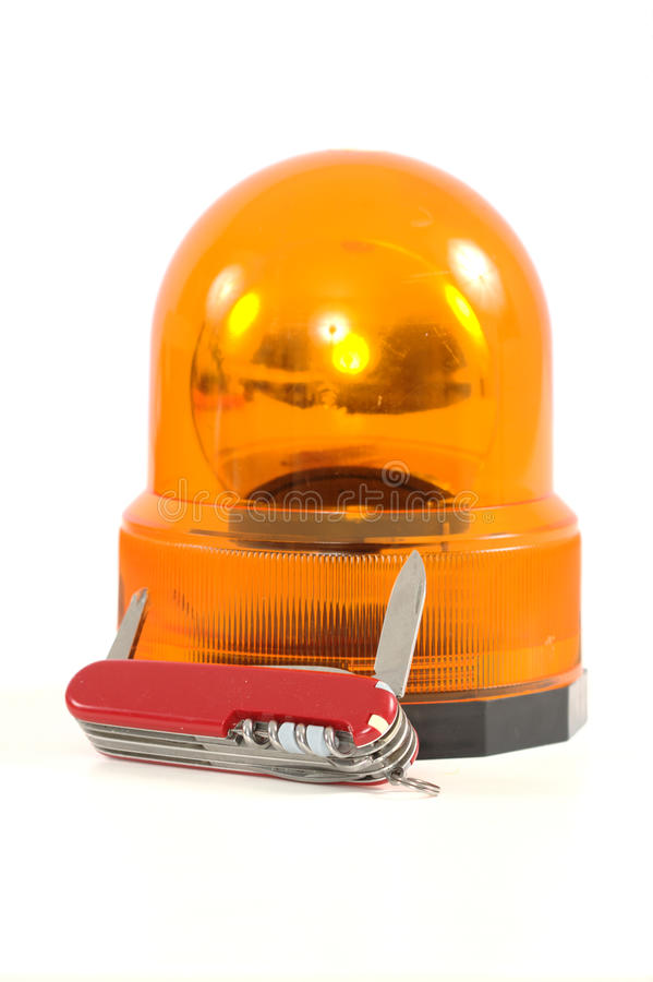 Une sirène orange avec le couteau photographie stock libre de droits