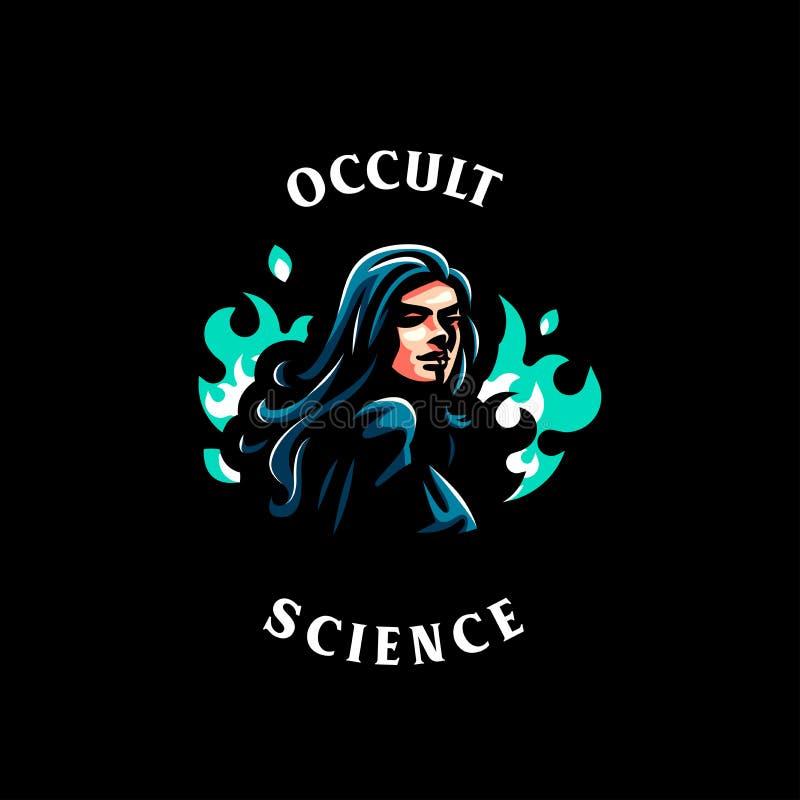 Une sorcière féminine illustration de vecteur