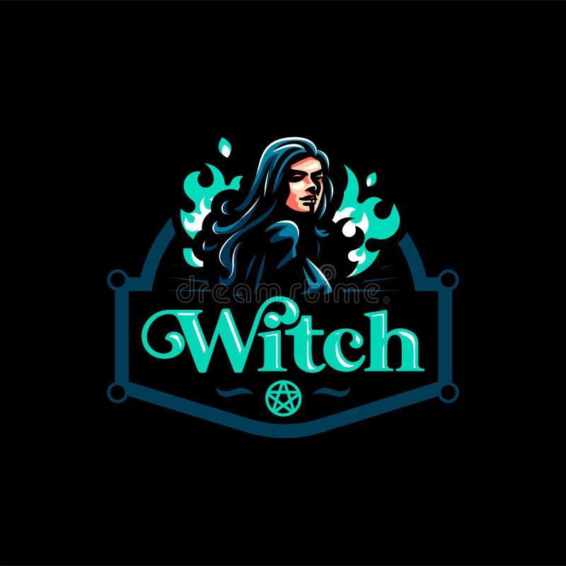 Une sorcière féminine illustration libre de droits