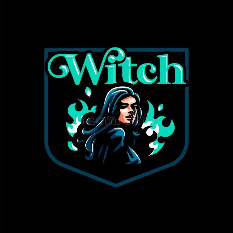 Une sorcière féminine illustration stock