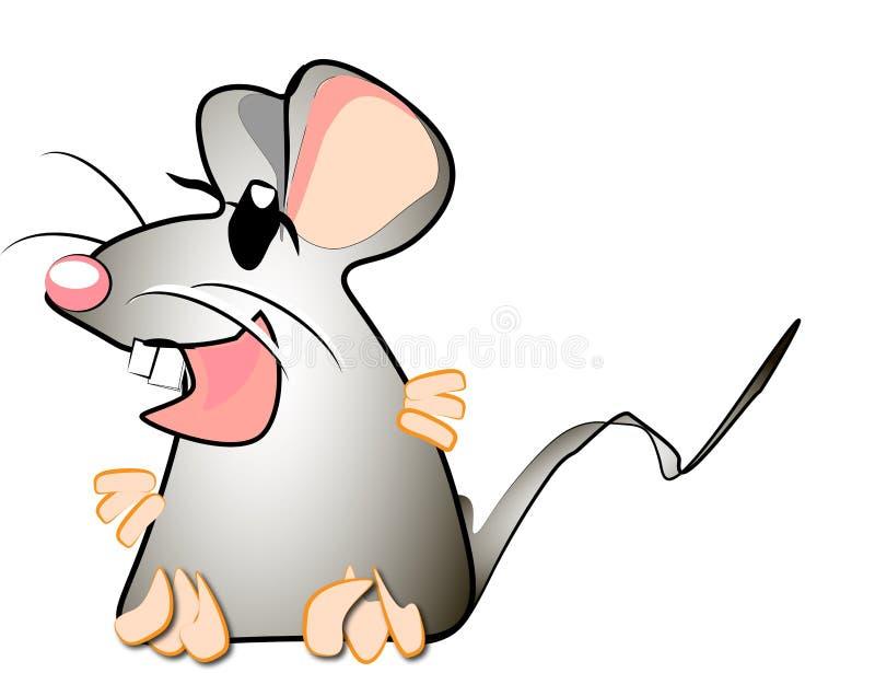 Une souris effrayée image stock