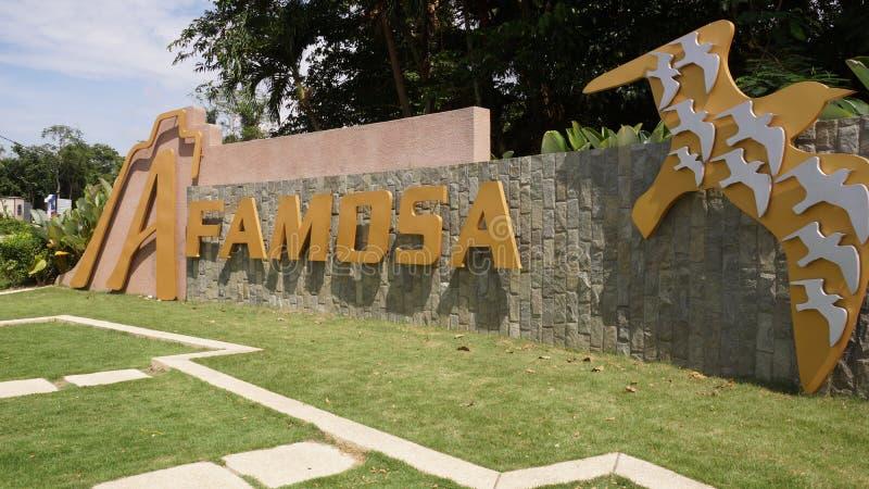 Une station de vacances Melaka de Famosa photo stock
