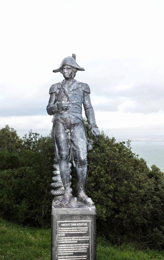 Une statue en bronze de capitaine James Cook photo libre de droits