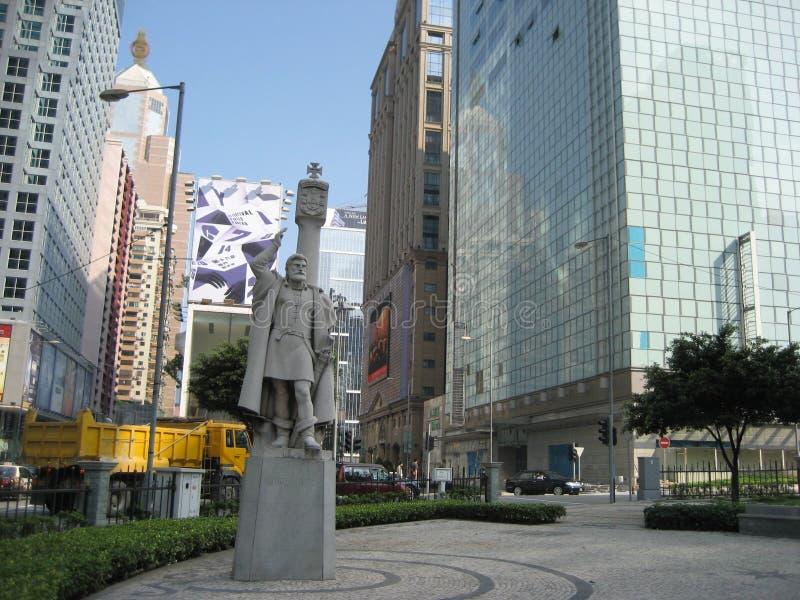 Une statue en pierre de Jorge Alvares photographie stock libre de droits