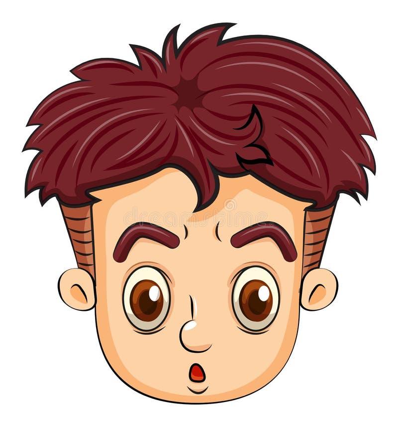 Une tête d'un adolescent illustration de vecteur