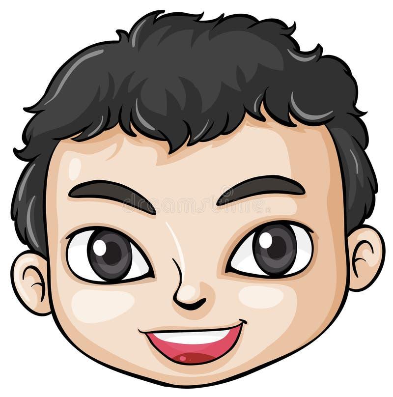 Une tête d'un garçon asiatique illustration stock