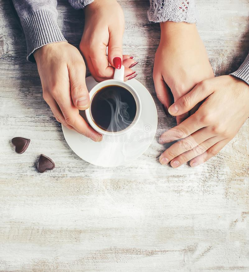 Une tasse de café boisson photographie stock