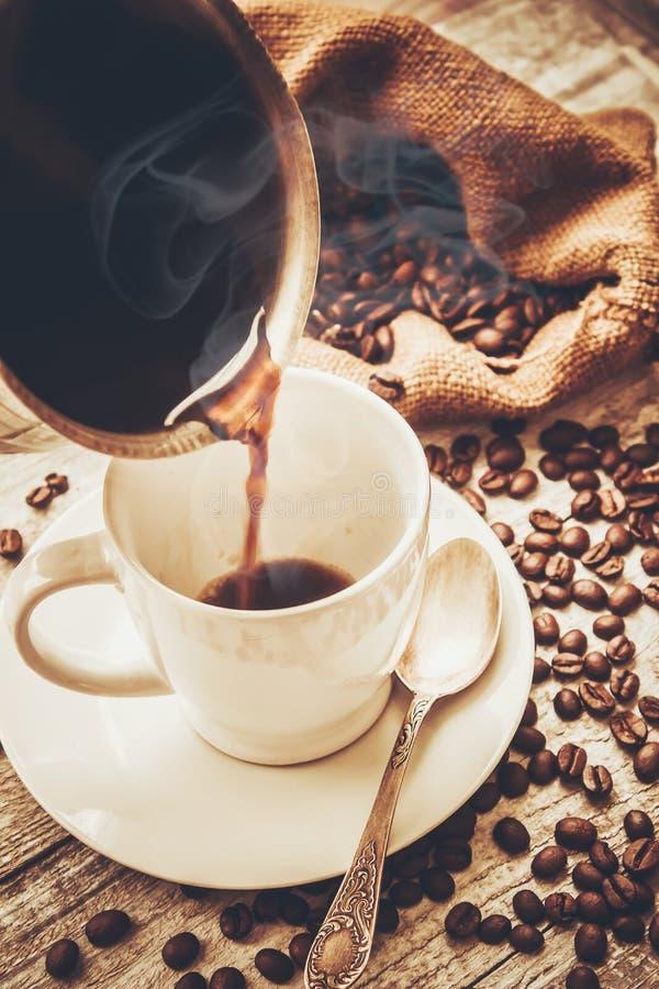 Une tasse de café boisson image stock