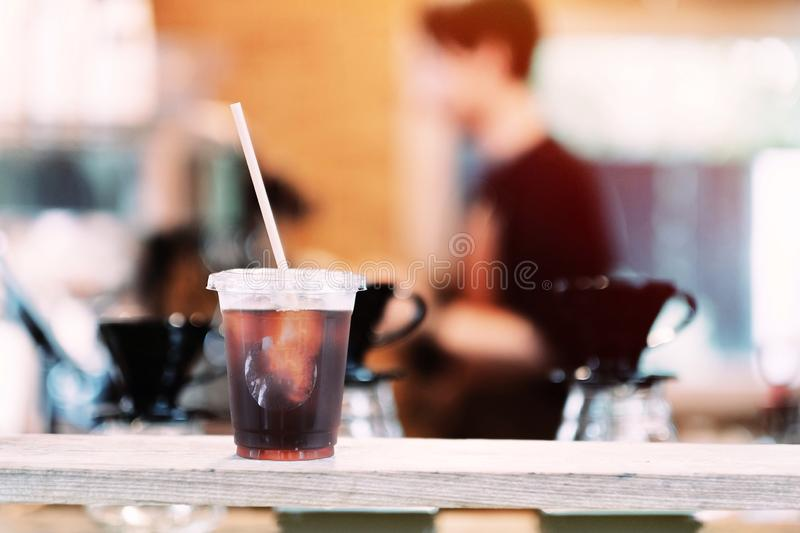 Une tasse de caf? image stock