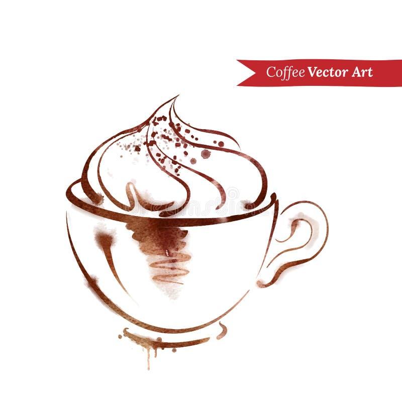 Une tasse de cappuccino illustration stock