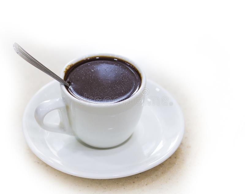 Une tasse de chocolat chaud parfumé images stock