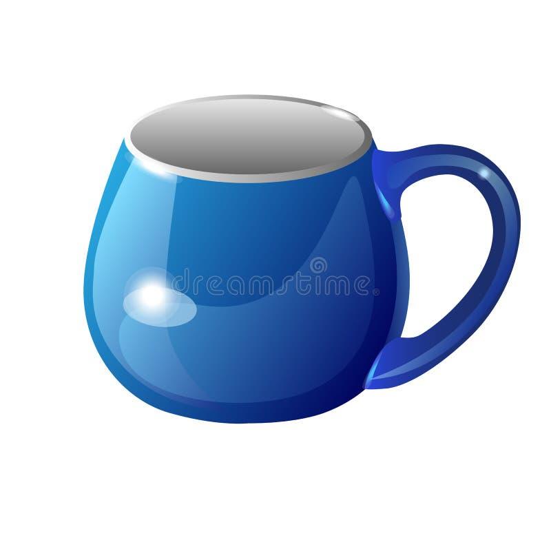 Une tasse de couleur bleue Illustratio de vecteur de couleur illustration libre de droits